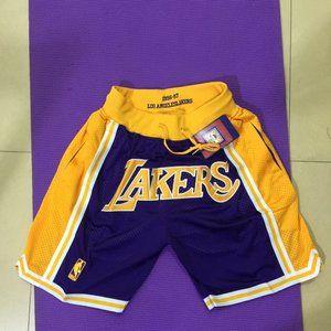 Just Don NBA Los Angeles Lakers Basketball Shorts